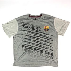 cde30c4e4a7 FCB Barcelona Graphic Gray T-shirt